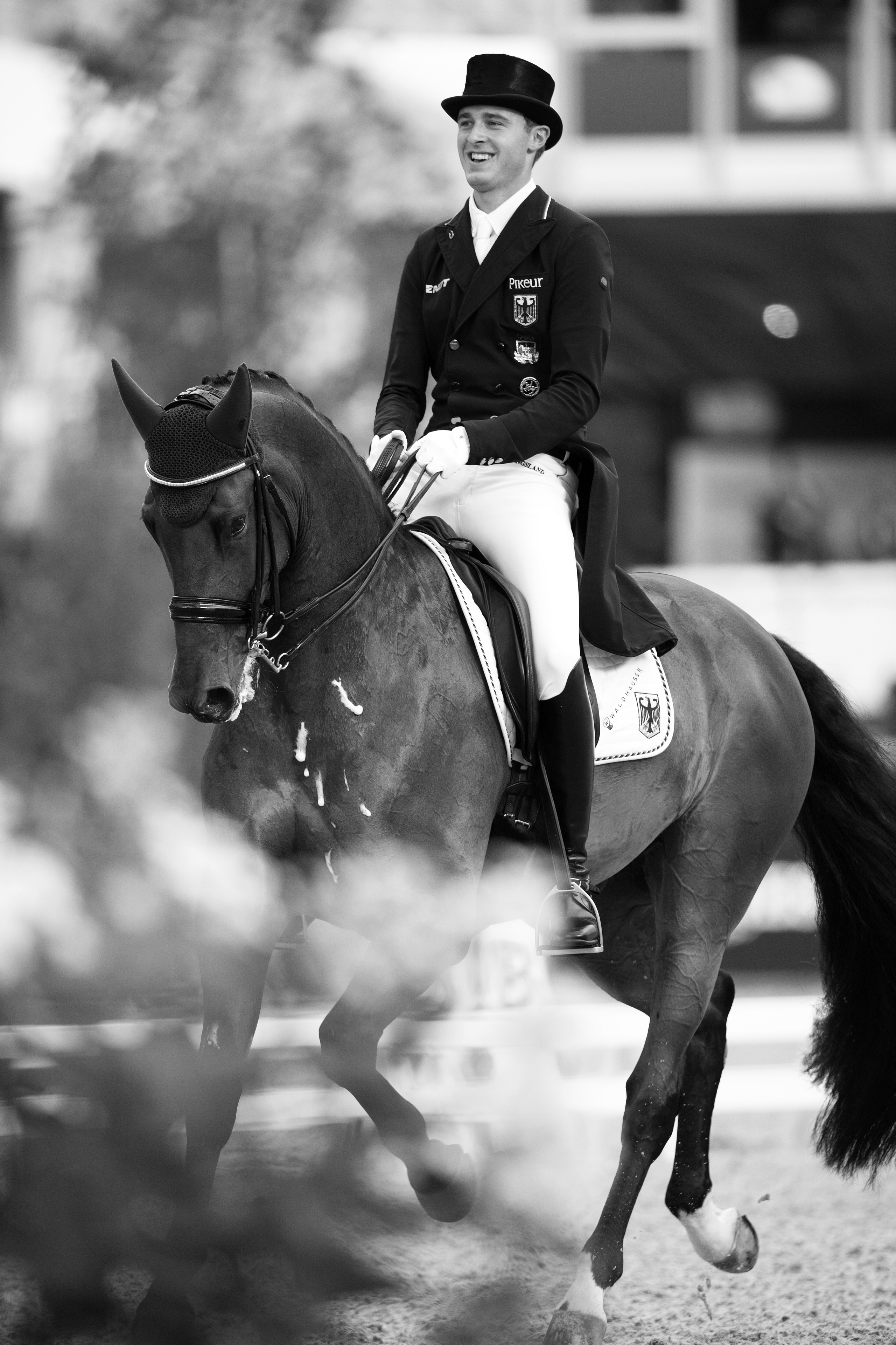 European Championships Dressage. FEI Grand Prix Freestyle Sonke ROTHENBERGER (GER) rides COSMO