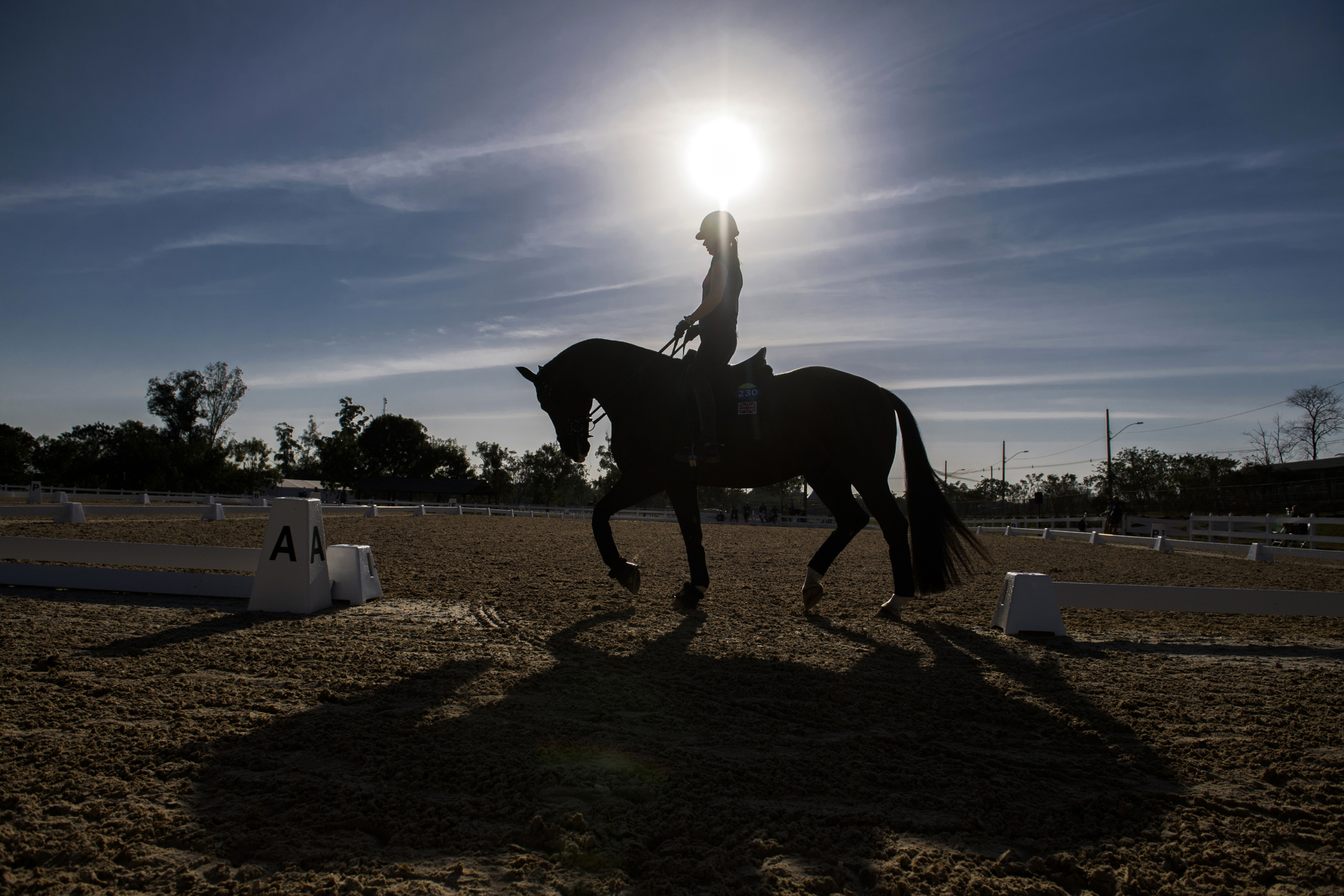 EQUESTRIAN Campaign realized for the International Federation for Equestrian Sports FEI. Dressage Training  Olympic Games Rio 2016 GBR Charlotte Dujardin