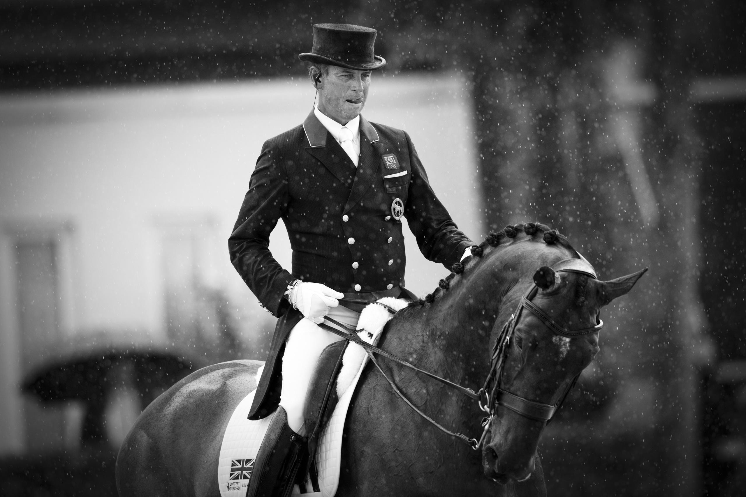 FEI EUROPEAN CHAMPIONSHIPS Aachen 2015. Individual Final Dressage. WARM UP RIDER: CARL HESTER HORSE: NIP TUCK