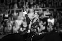 FEI EUROPEAN CHAMPIONSHIPS Aachen 2015.Female Vaulters Finale. VAULTING.Manon NOEL FRA Kirch de la love (338)