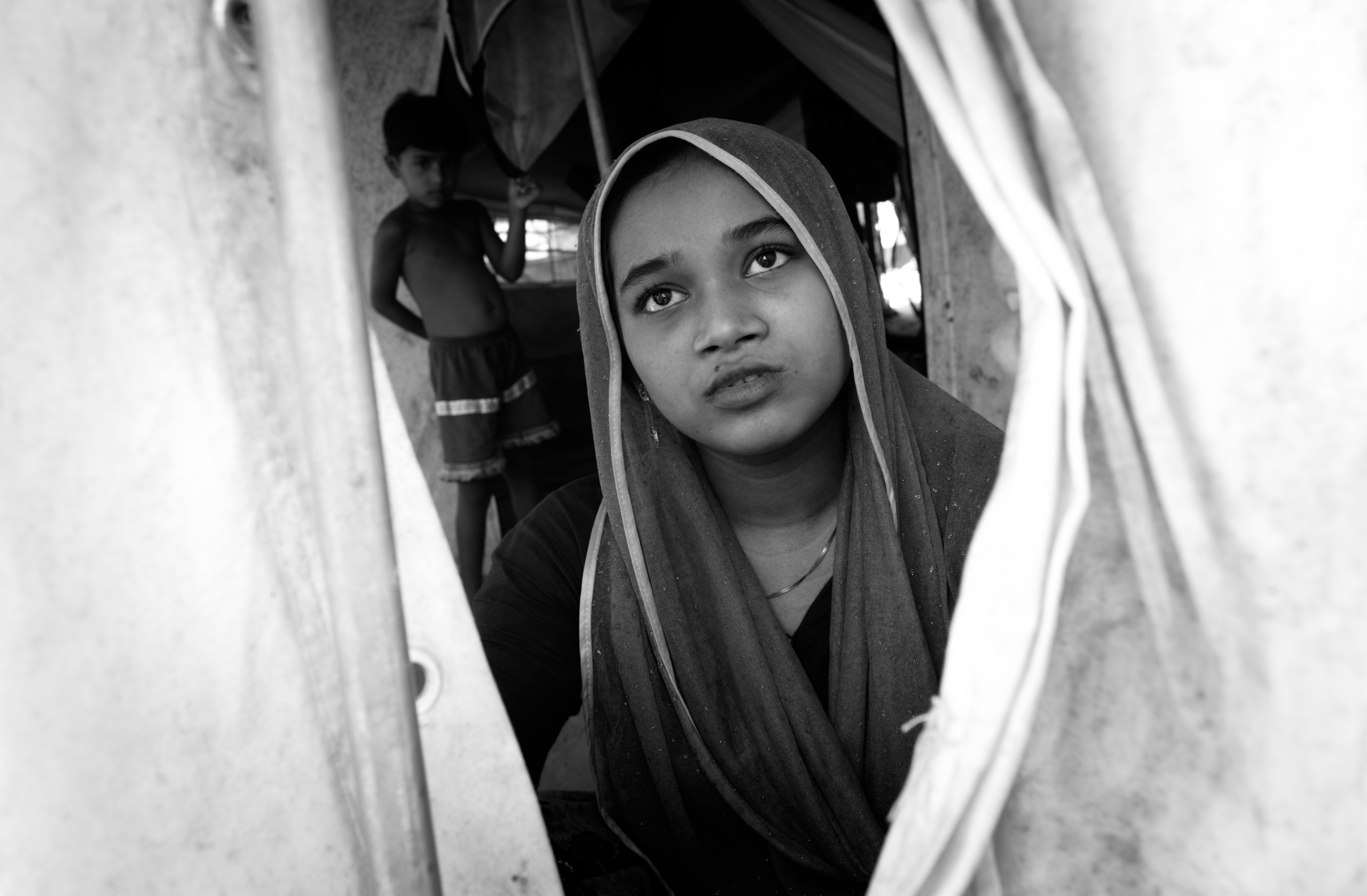 Rohingya refugee at the Kutupalong transit center . Over 650,000 Rohingya have crossed the border to Bangladesh since August last year, fleeing the violence.