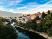 Mostar, Bosnia Herzegovina. Old city of Mostar.