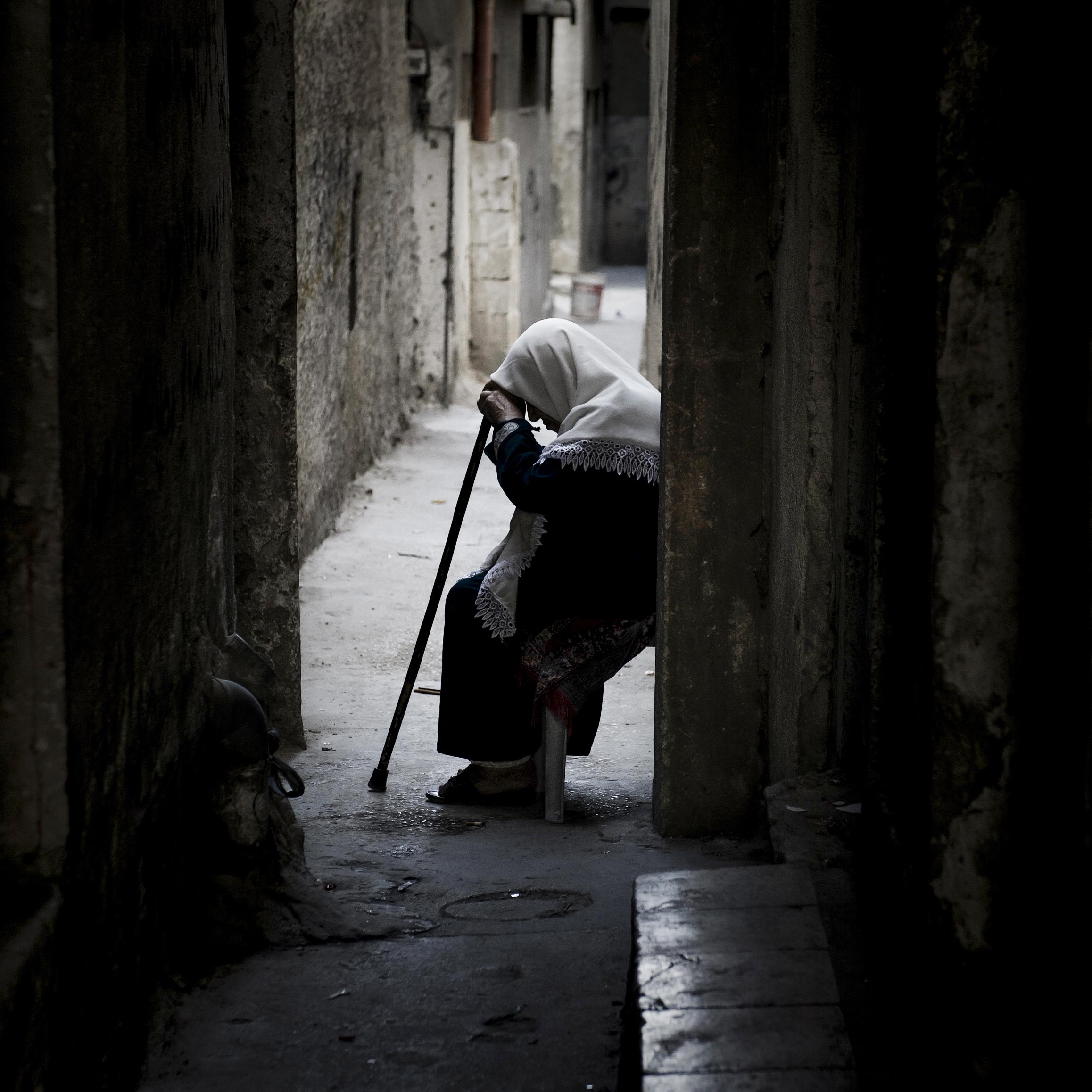 Nablus, Palestine.Nablus street scene.