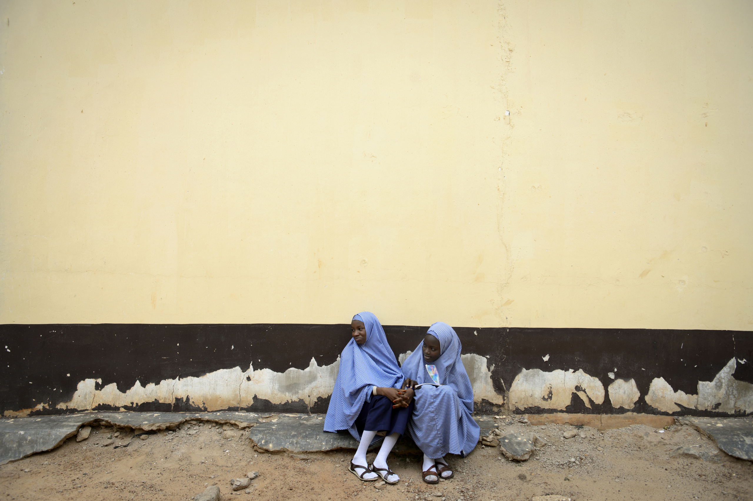 NIGERIA,Kaduna. Two girls in an interdenominational school of Kaduna. Nearly 4,000 people have died in Nigeria due to the violent conflict over the past decade. The economic and ethnic conflict in the northern states has a religious dimension. It is only with true governance that these conflicting differences could be managed. As elsewhere in Nigeria, residents accuse both local and state government officials for promoting identity-based divisions to advance their own political agendas.