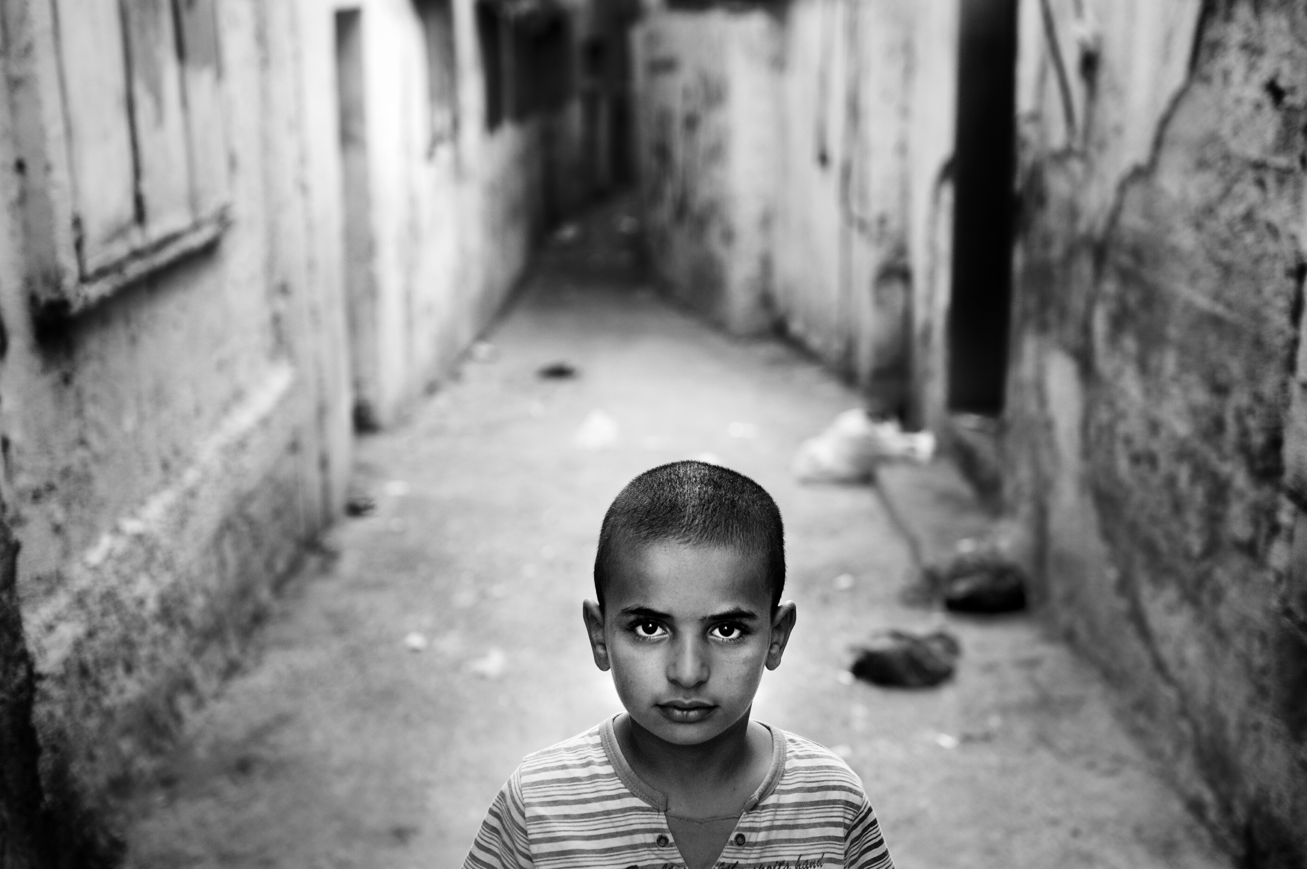 Palestine, Nablus : Palestinian refugee in the Balata refugee camp in the West Bank City of Nablus