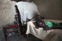 Juba, South Sudan. A child suffering from malaria.