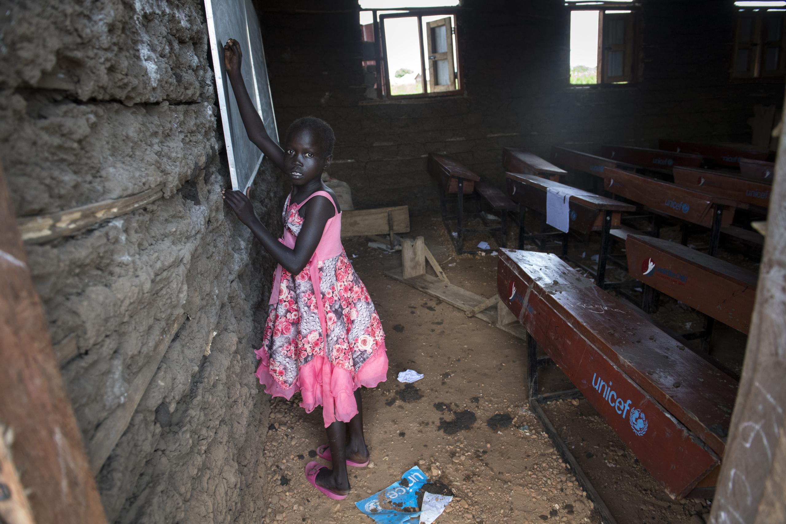 South Sudan, Juba. Child at School Area 107 .