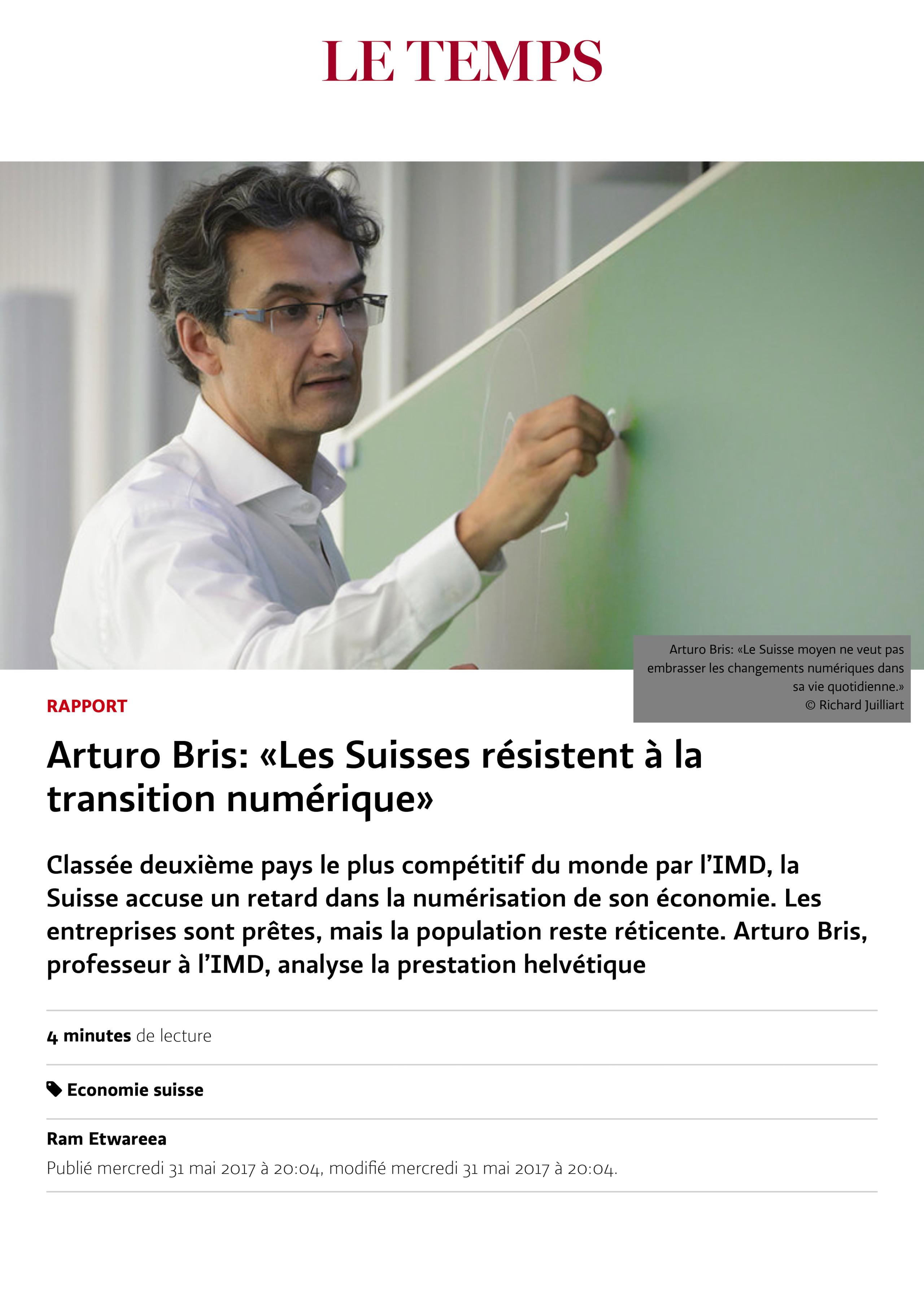 tearsheet-2019-08-27_16.«Les Suisses résistent à la transition numérique» - Le Temps-1